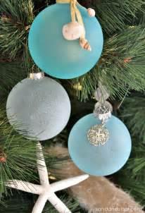 Highlight of the coastal christmas tree is the diy sea glass ornaments