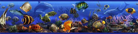bordure kinderzimmer fische bord 252 re meer fische delfine bad deko fliesen wand tapeten