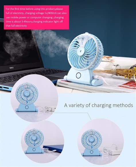 Kipas Angin Air Embun kipas angin air embun usb rechargeable mini fan portable a29 blue jakartanotebook