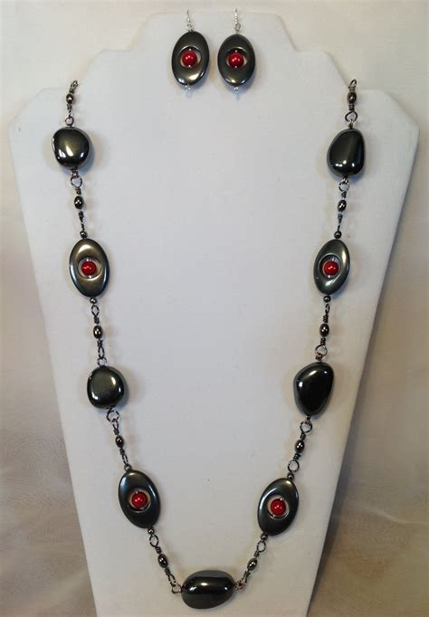 Bead Your Own Sassy Earrings Or Someone Do It For You Either Way Its Your Choice At Designer Fashiontribes Fashion by Black Hematite Stones Beaded Necklace And Earrings