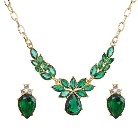 for jewelry green zircon jewelry s costume jewelry set