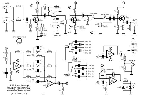 Power Lifier Thunder 3 band pre schematic get free image about wiring diagram