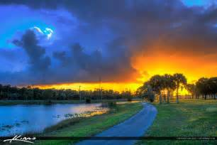 Popular Colors Okeeheelee Park Sunset At Lake Greenacres Florida Running