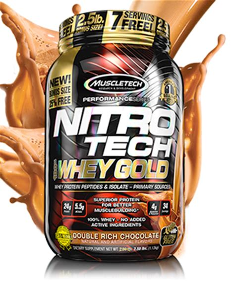 Muscletech Nitrotech Whey Gold 6lb nitro tech by muscletech at bodybuilding best prices