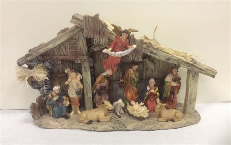 new 30 x 18cm christmas nativity set scene premier