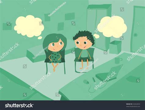 kids chatting room stock vector 53262634 shutterstock myuala