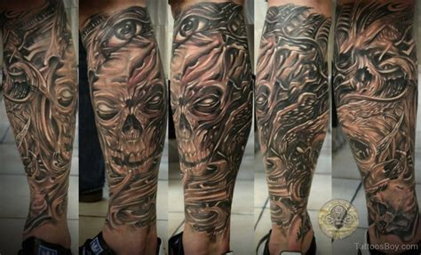 skull leg tattoo skull tattoos designs pictures page 2