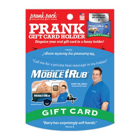 Funny Gift Card Holders - mobile rub prank gift card holder 4 99 funslurp com unique gifts and fun