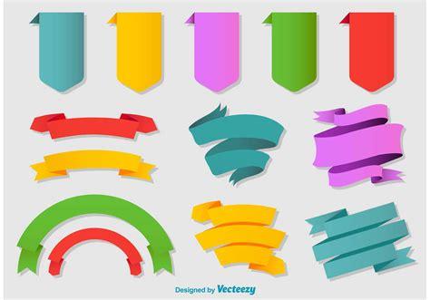 Flat Ribbon colorful flat ribbons free vector stock