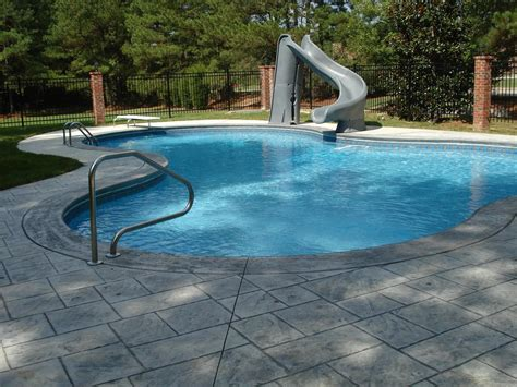 Backyard Pool Home Water Slides For Home Pools Backyard Design Ideas