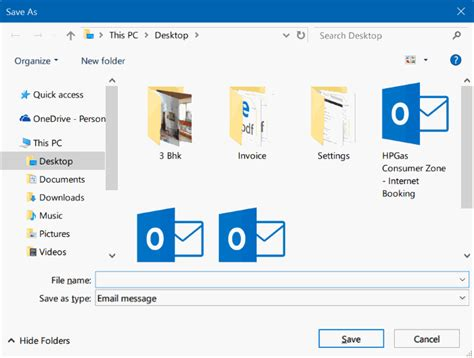 save email backup or save email messages in windows 10 using mail app