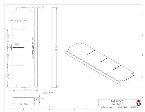 multibody sheet metal parts peter cad fea driven design changes on little league dugout bat rack