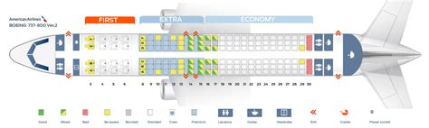 American Airlines Plane Interior by Seat Map Boeing 737 800 American Airlines Best Seats In