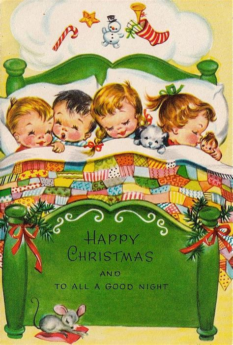 Vintage Gift Card - to all a good night on christmas christmas pinterest vintage christmas vintage
