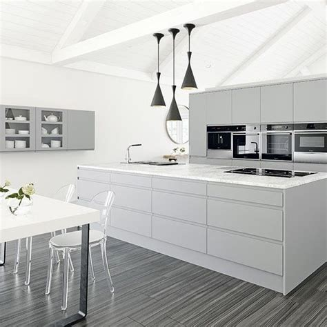 best 20 white grey kitchens ideas on white