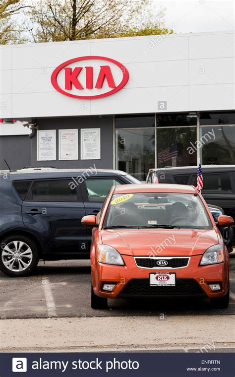 Kia Car Lot Kia Car Dealership Usa Stock Photo Royalty Free Image