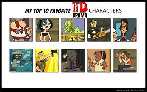 Popular Meme Characters - top 10 favorite total drama characters meme by