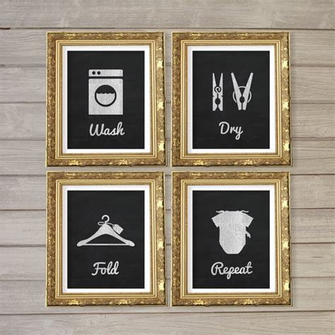 free printable laundry wall art laundry room faux blackboard chalk wall art printable 8x10