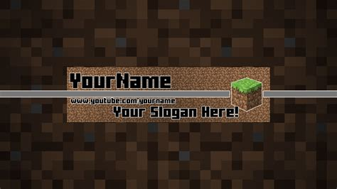 minecraft youtube banner template now free by bulbasuer