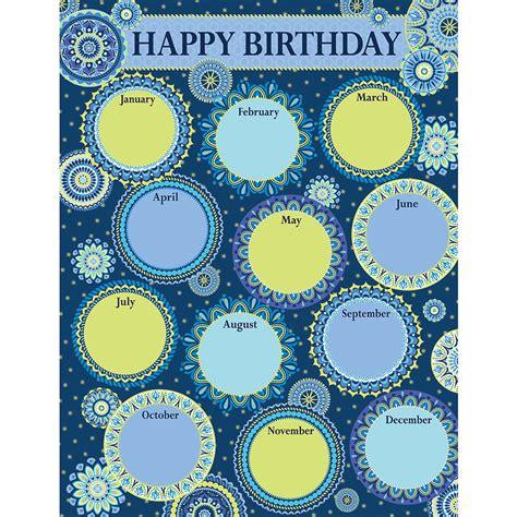 happy birthday corner design blue harmony birthday chart eureka school