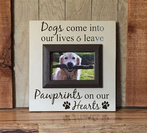puppy picture frames picture frame for dogs gift for pet by paintedtreasuresbyme