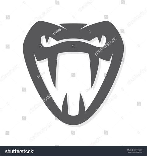 vector snake logo template viper head stock vector
