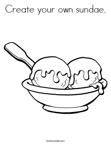 Design Your Own Coloring Page create your own sundae coloring page twisty noodle