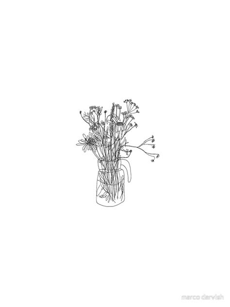 aesthetic flowers drawing thin blog