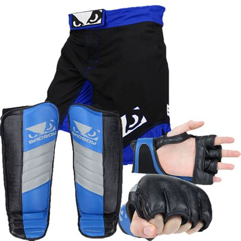 Bad Boy Legacy Ii Celana Combatmma Fightshorts Blackblue bad boy legacy fight gear bundles