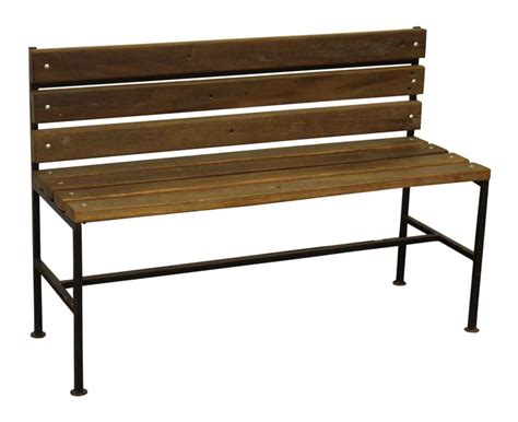 ipe bench ipe wood bench with black iron legs olde good things