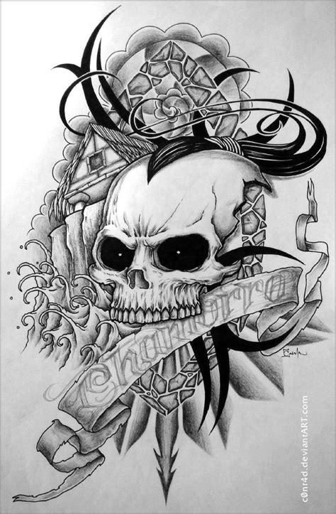 skull tattoo art designs pictures by townsend