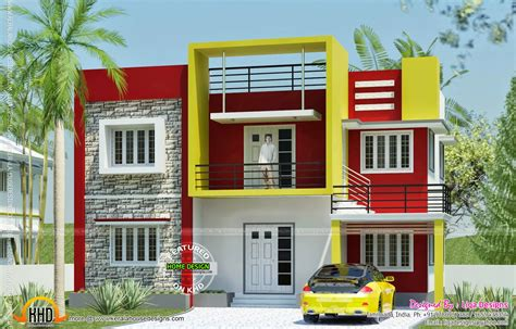 design home 880 sqft contemporary house in tamilnadu kerala home design and