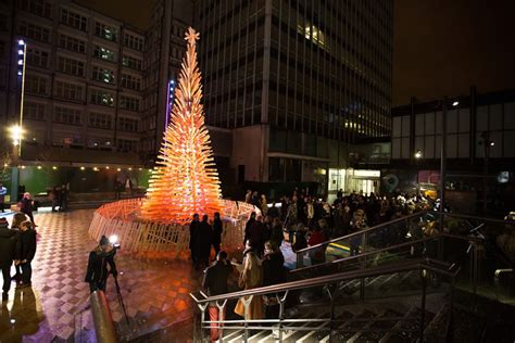 giant christmas trees have sprouted up in london budapest
