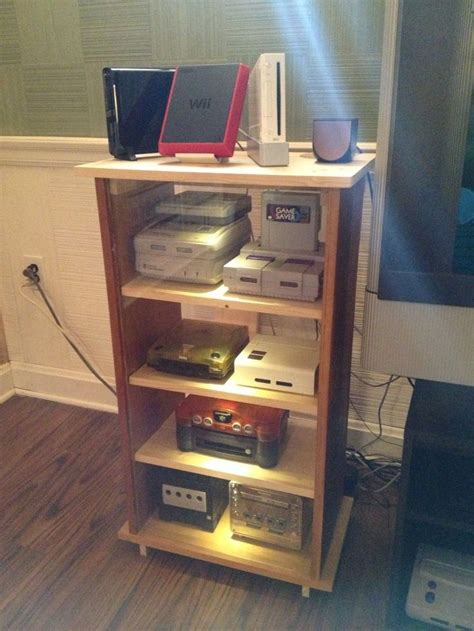 video game console furniture woodworking projects plans