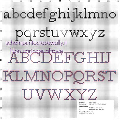 lettere minuscole punto croce alfabeto punto croce minuscolo e maiuscolo per i nomi con