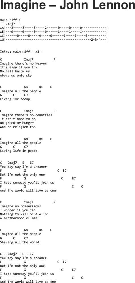 song ukulele 25 best ideas about imagine lennon on
