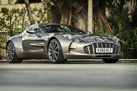 poster of aston martin grey one 77 right front hd print