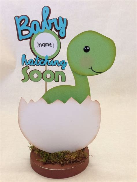 Dinosaur Baby Shower Theme by Custom Listing For D Baby Dino Dinosaur Centerpiece