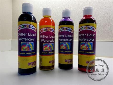 liquid water colors preschool rainbow using dyed rope