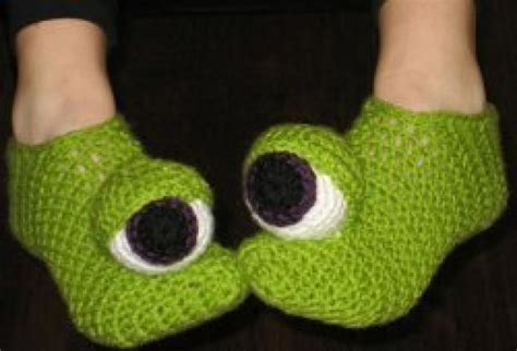 crazy house shoes crazy monster eyes slippers favecrafts com