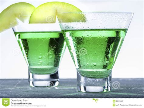 martini green green apple martini cocktail stock image image of