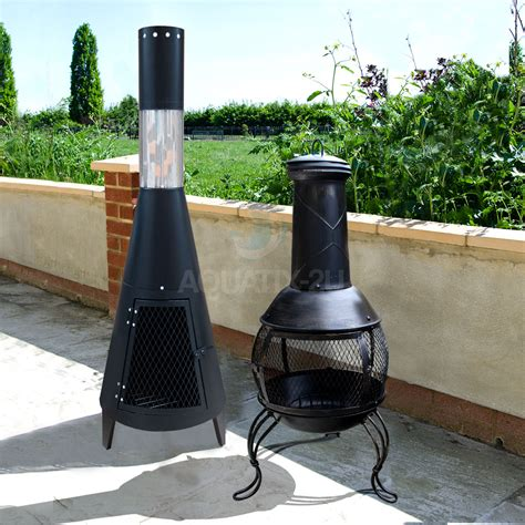 Log Burner Chiminea Outdoor Chiminea Garden Patio Log Burner Wood Heater