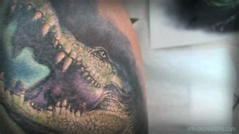 crocodile realistic tattoo youtube