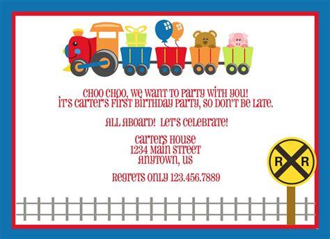 birthday invites train birthday invitations printable