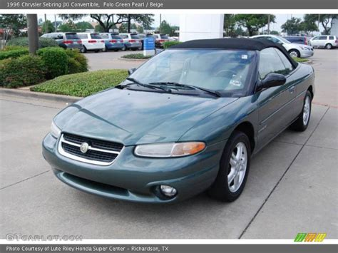 1996 Chrysler Sebring Convertible by 1996 Chrysler Sebring Jxi Convertible In Polo Green Pearl