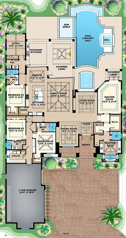 dream house plan pool included from coolhouseplans com 37 best dream home images on pinterest homes house