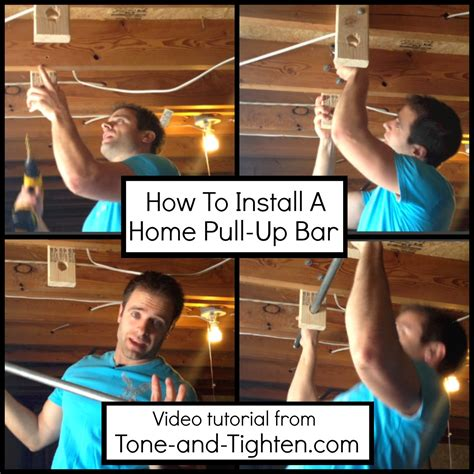 installing a bar in basement how to install a home pull up bar tone and tighten