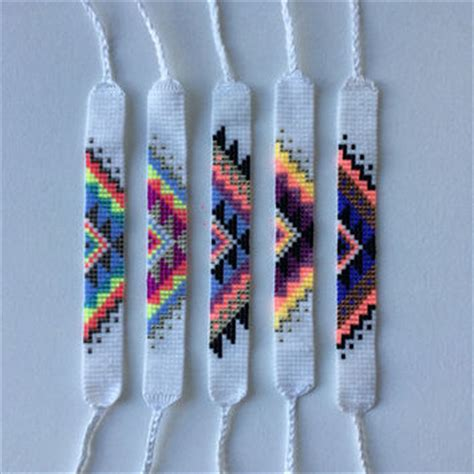 beaded friendship bracelet patterns best seed bead patterns products on wanelo