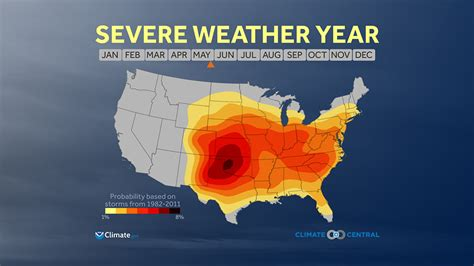 severe weather map severe weather season climate central