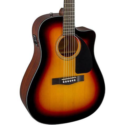 Gitar Akustik Elektrik Spull New 1 fender cd60ce cutaway dreadnought acoustic electric guitar